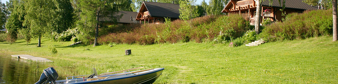 Fishing boats and cottage accommodation in the Tampere Region, Finland.