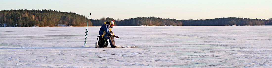 Ice fishing on the lakes of the tampere region finland for Fishing in finland