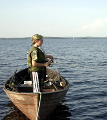Fishing on Lake Näsijärvi